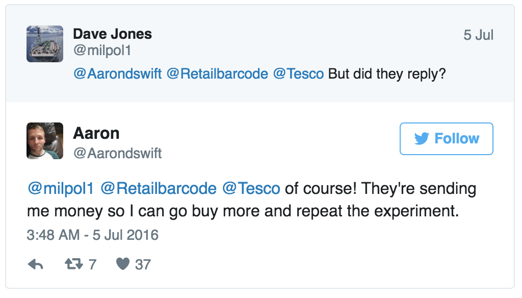 Carrots Batons Tesco Customer Care (Mashable) 5